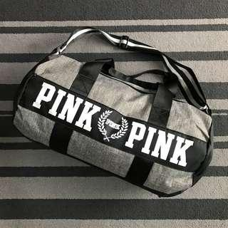 VS Victoria's Secret Waterproof Travel Duffel Bag PINK PINK Letter Print