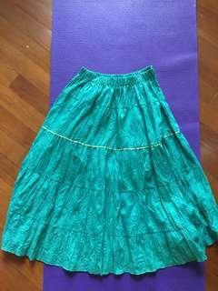 綠色複古長裙