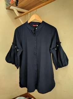 Blouse pearly navy