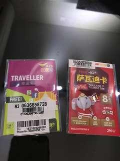 AIS True move thai sim card , thailand simcard