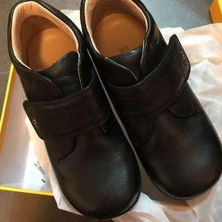 全新 Dr Kong 黑色 返學 皮鞋 健康鞋 EU28 new shoes boy uniform school