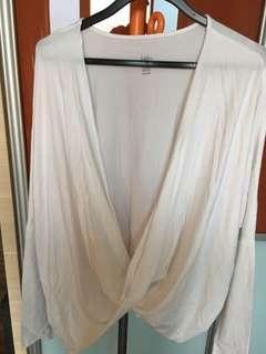 Mika White Freya Flow Wrap Pima Cotton Free Size