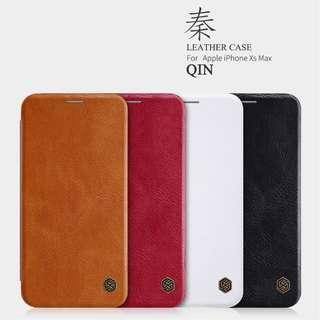 🚚 Apple Iphone XS Max Leather Flip Case Card Slot Casing Cover