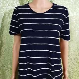 Discoat Striped Blouse