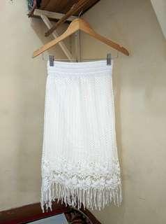 Broken white skirt