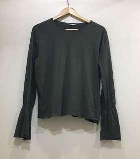 ZARA shirt in green