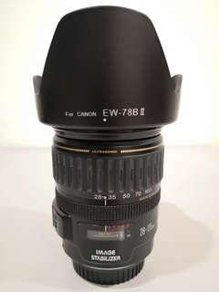 Canon EF 28-135mm IS Lens (free 2 Hoya filters)