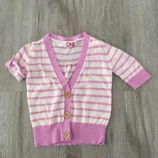 Cotton On Purple Stripes Short Cardigan Top
