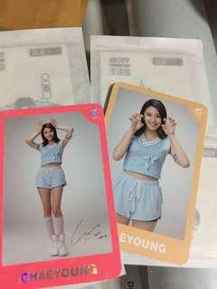 Instock Official twice 1st tour concert goods Twiceland the opening encore photocard PC Card chaeyoung