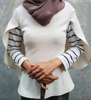 Blazer Cape Broken White