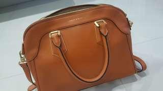 Charles & Keith Handbag - Tan Orange