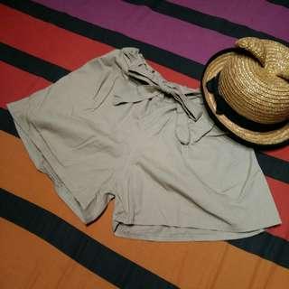 Khaki Korean-styled Shorts