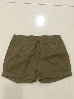 Brown army short
