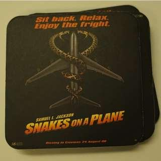 Snakes on the Plane Drink Coasters #3x100