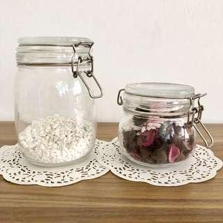 BN IKEA Jars with White Stones and Potpourri