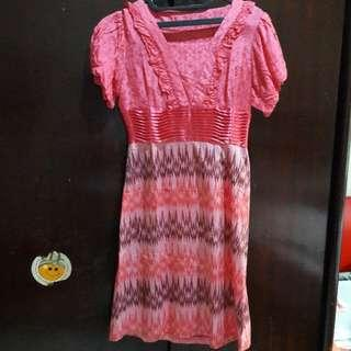 Dress kain tenun