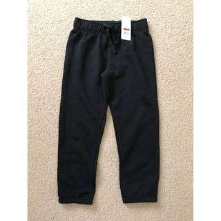 Size 5 Unisex bnwot  Black cuff legged, elastic waist track pants