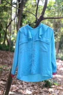 #MauiPhoneX Flowy blue pink blouse