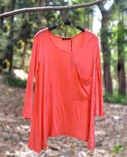 #MauiPhoneX Queensland peach trumpet blouse