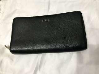 Authentic Furla Long Zip Leather Wallet