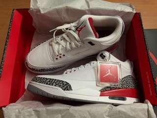 "9ed456c8dac7e0 Nike Air Jordan 3 Hall of Fame ""Katrina"" white fire red grey cement US11"