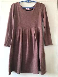 Brown baby doll dress