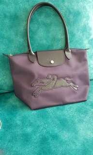 Longchamp Victoire Tote Bag / Shoulder Bag - Long Handle - Purple