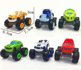 New monster machine pals car cake decoration topper toys racing car