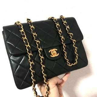 Authentic Chanel Square Mini with 24k Gold Hardware