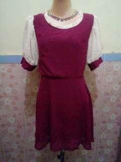 maroon vintage dress