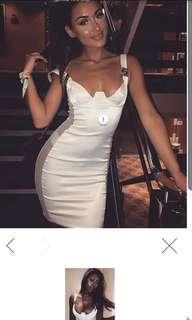Meshki Klara Mini Dress White