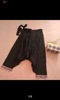 🚚 全新 泰國 手工 十字繡 民俗風 異國風 綁帶 燈籠褲