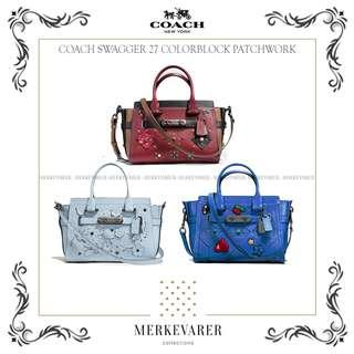 COACH Swagger 27 with Colorblock Patchwork