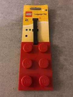包郵 Lego Luggage Tag Red Colour