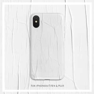 3D White Textured Abstract Paint iPhone Casing Case
