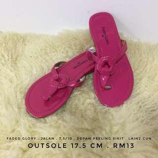 Faded glory girl pink slipper sandal