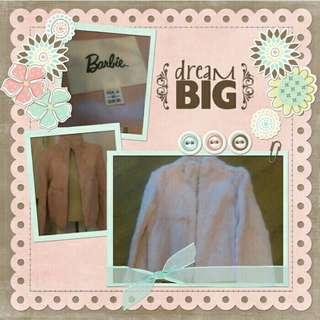 Barbie兔毛拉鍊外套