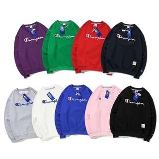 Champion Athletic Embroidered Logo Pullover Sweater Shirt