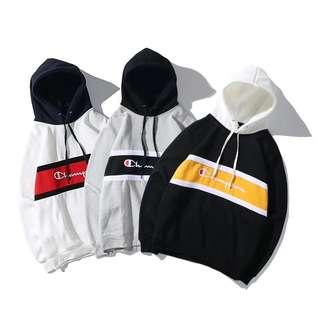 Champion Embroidered Midband Hoodie Pullover Sweater