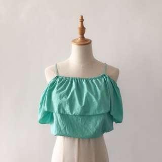 全新|果綠細肩上衣#九月女裝半價