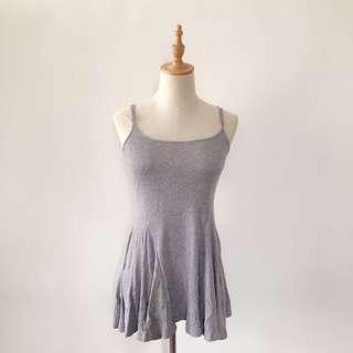 二手|灰色細肩連身裙#九月女裝半價