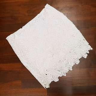 Korean Brand White Lace Skirt
