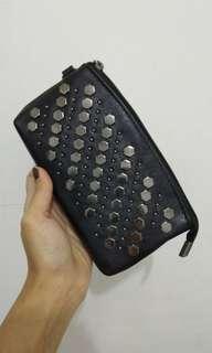 dompet wallet stud black