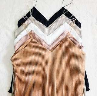 String Cami Pleated