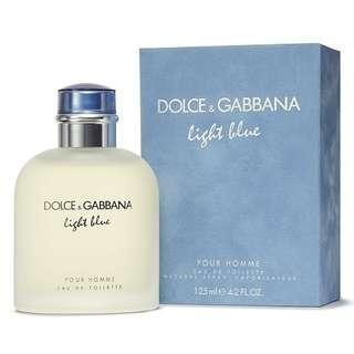 D&G Light Blue EDT for Men (75ml/125ml/Tester/Giftset) Dolce & Gabbana