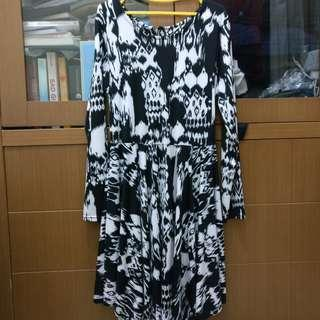Ethnic Dress - Black and White | 3 & Half