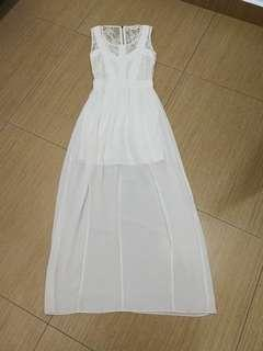 (3 for RM150) Miss Selfridge Embellished Cream Maxi Dress #3x100