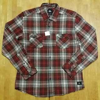 (L) Quiksilver Plaid Shirt