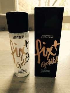 MAC Prep + Prime Fix + Shimmer in Goldlite