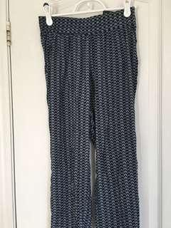 H&M Blue and white pants